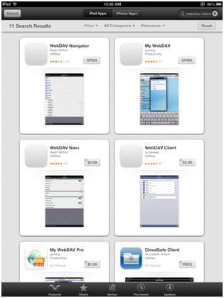 Accessing your WebCenter Content System from an iPad or